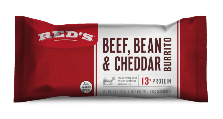 Red's Beef, Bean & Cheddar Burrito