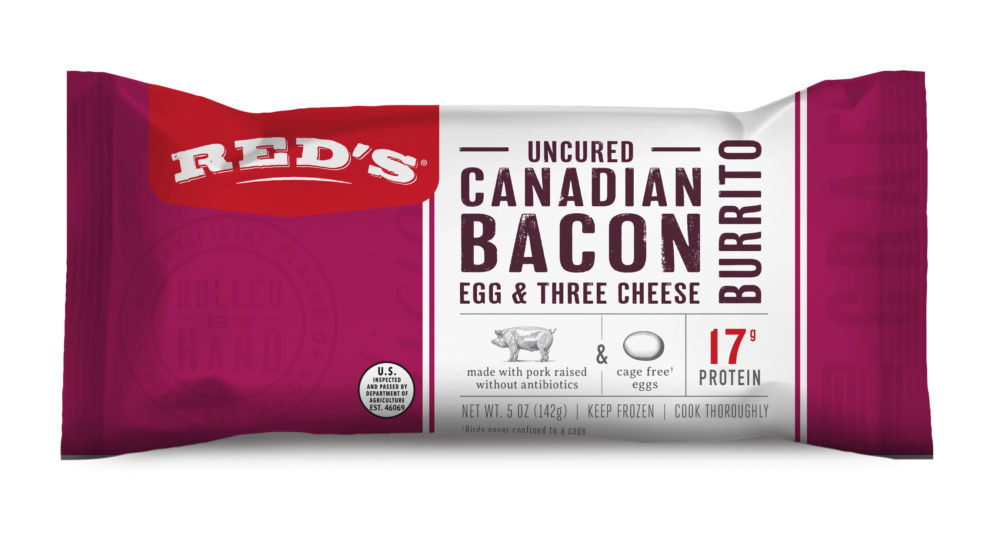 Red's Uncured Canadian Bacon, Egg & Three Cheese Burrito