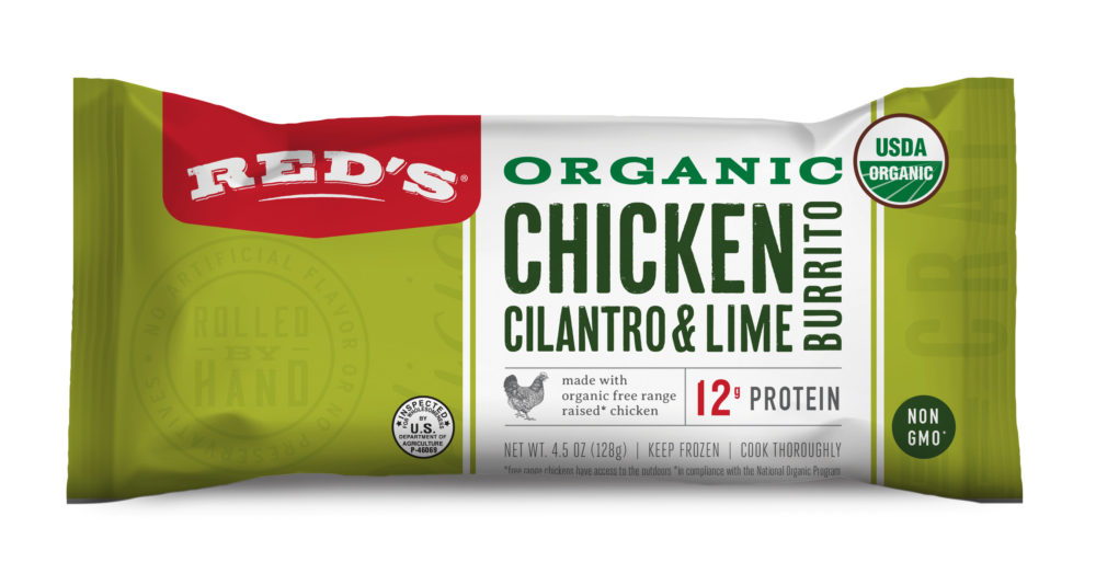Red's Organic Chicken, Cilantro & Lime Burrito