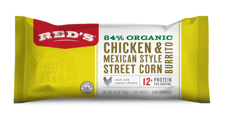 Red's Chicken & Mexican Style Street Corn Burrito