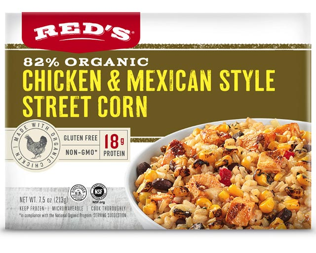 Red's 82% Organic Chicken & Mexican Style Street Corn Entree