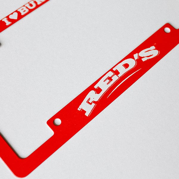 Red's Rewards - License Plate Frame