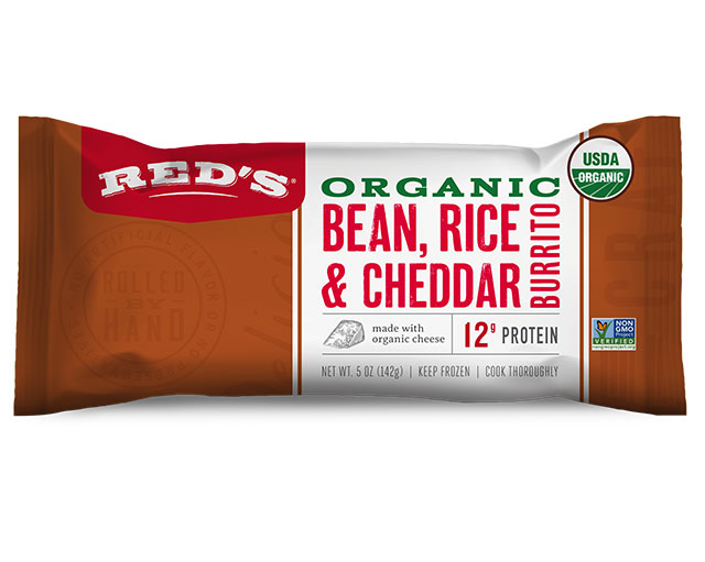 Red's Organic Bean, Rice & Cheddar Burrito