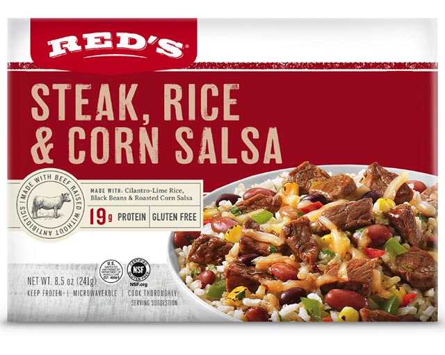 Red's Steak, Rice & Corn Salsa Entree