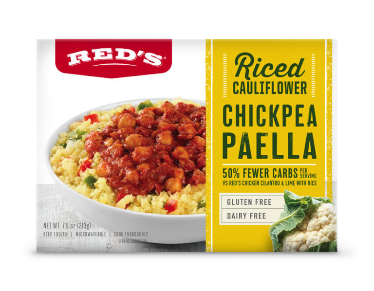 Red's Riced Cauliflower Chickpea Paella