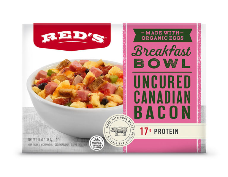 Red's Uncured Canadian Bacon Breakfast Bowl