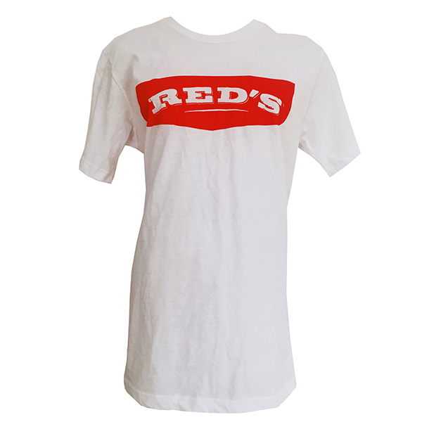Red's Logo White T-shirt Front
