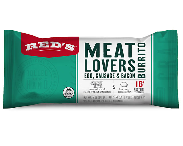 Red's Meat Lovers Breakfast Burrito