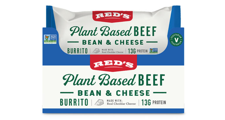 Red's Plant based beef bean and cheese burrito pack