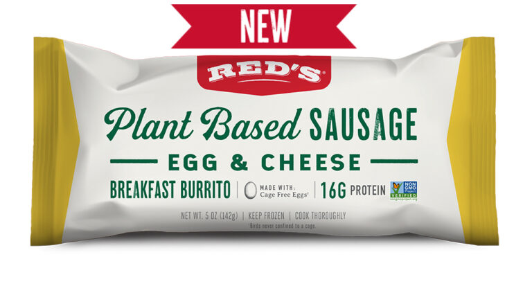 Red's Plant Based Sausage Egg and Cheese Burrito