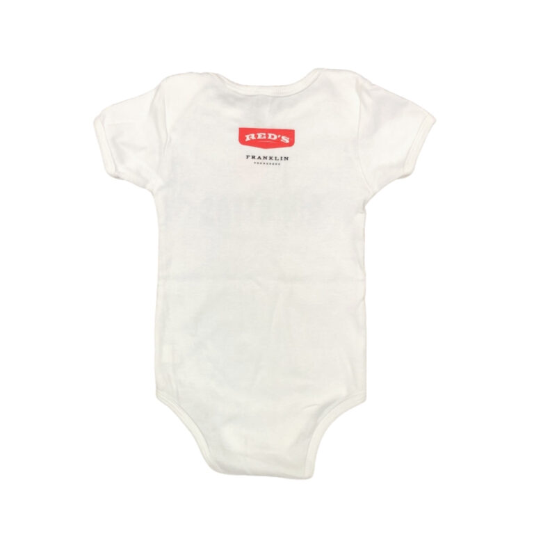 Red's baby onesie back